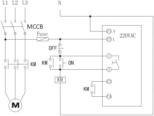 rh电动机防晃电控制器接线图